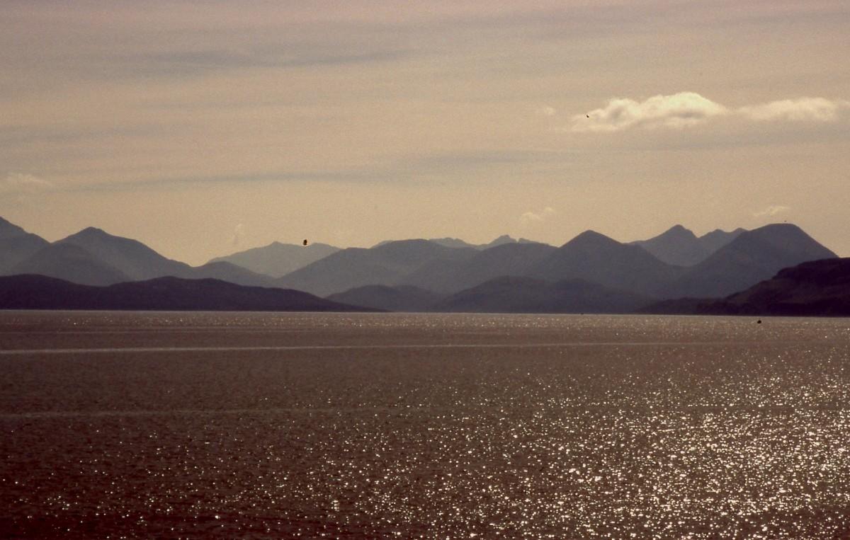 uitzicht op Skye vanaf Applecross