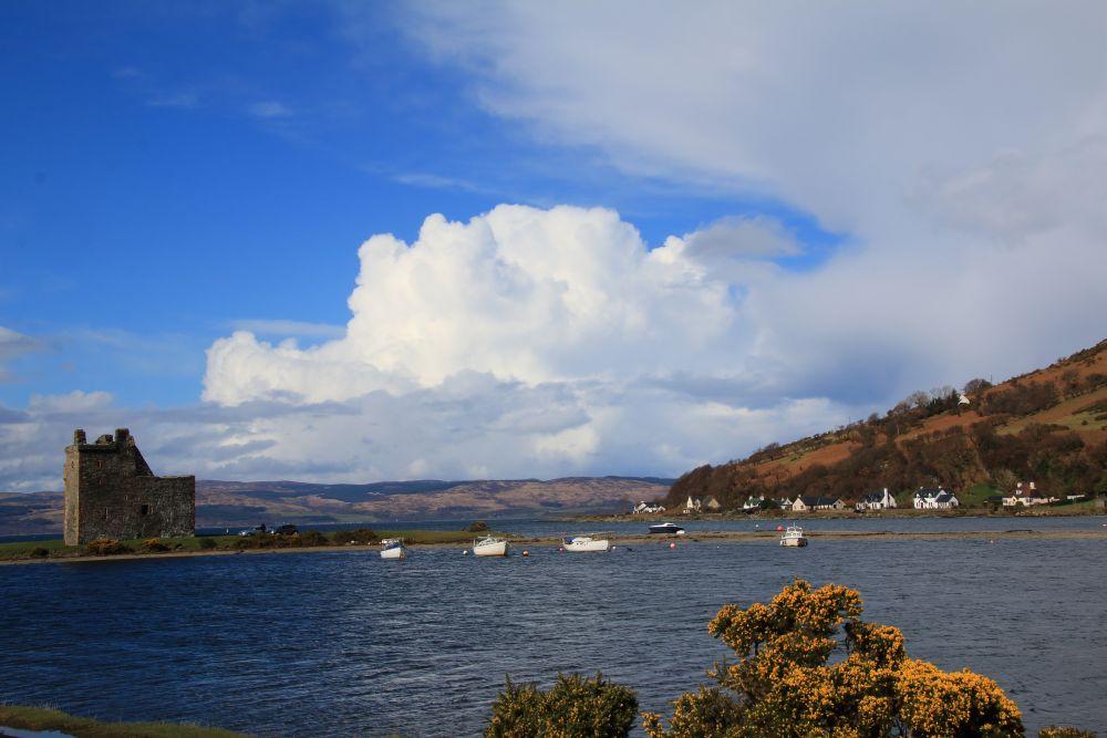 Kasteelruine bij Lochranza