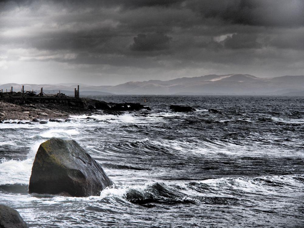 De zee ten oosten van Arran