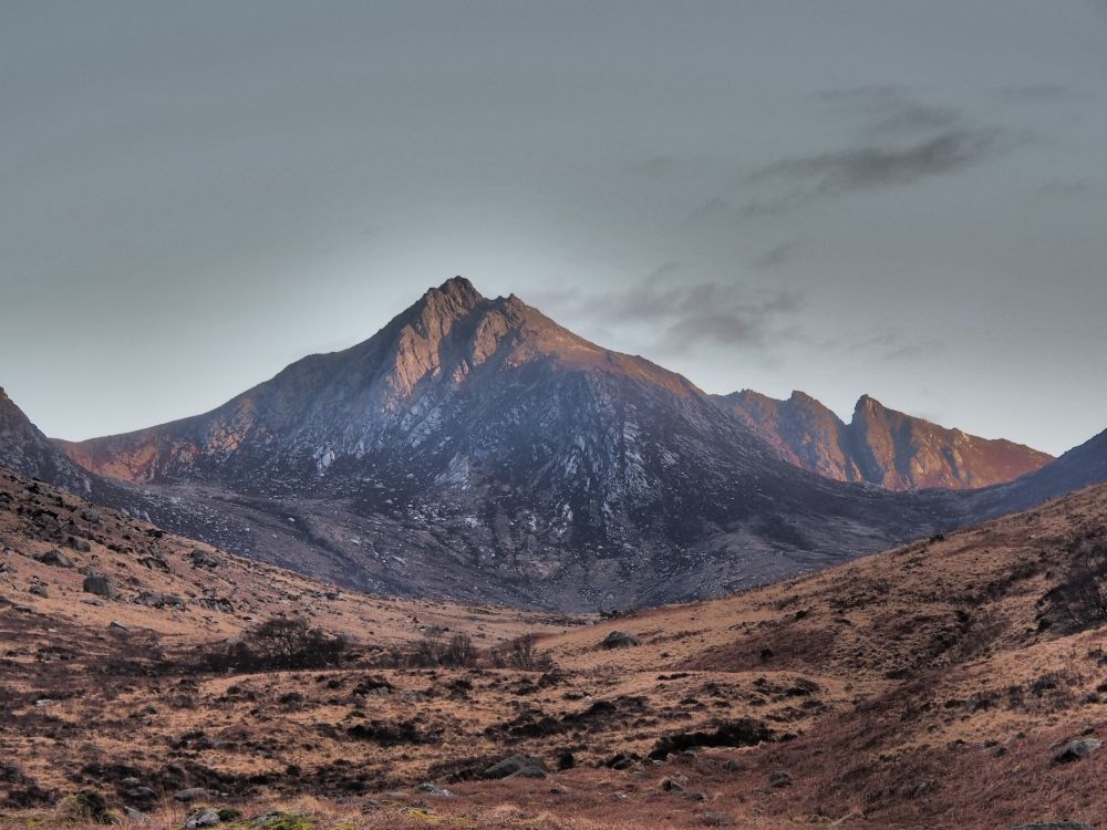 Cir Mhor achter in de Glen Rosa