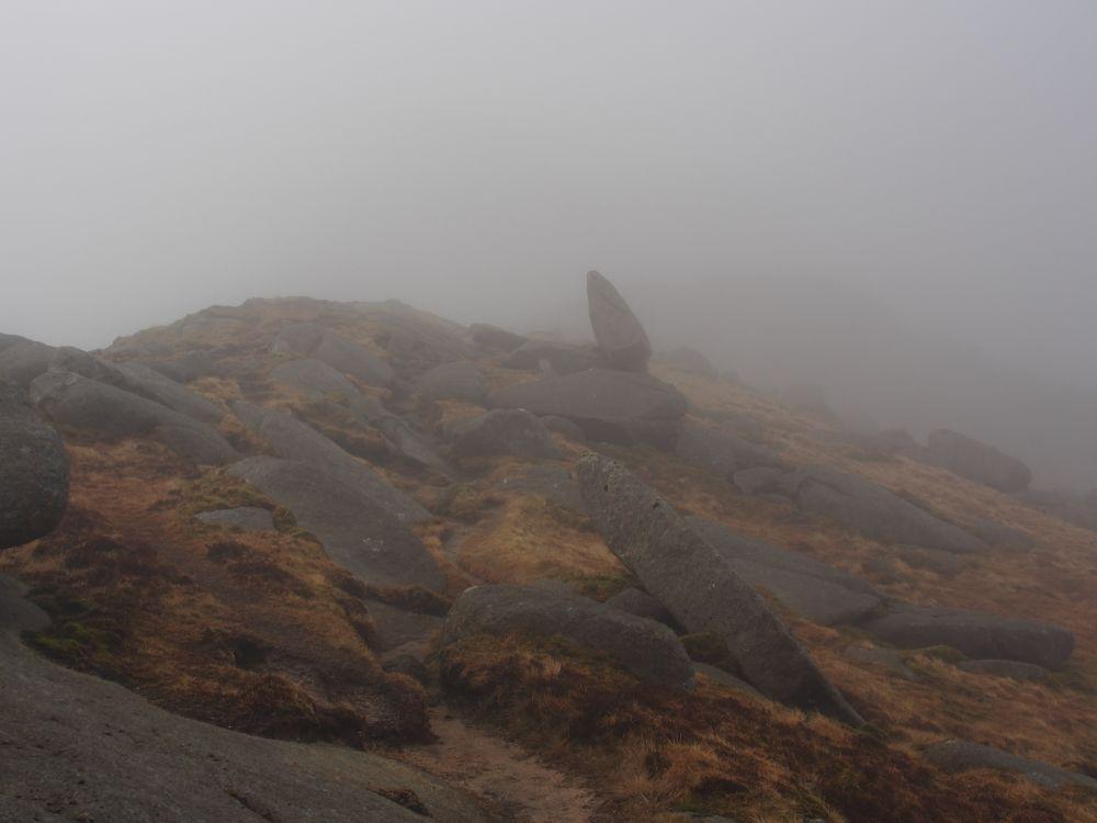 mist op Beinn Nuis