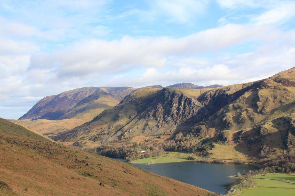 Op weg naar Haystacks( op de oosthelling van High Crag)